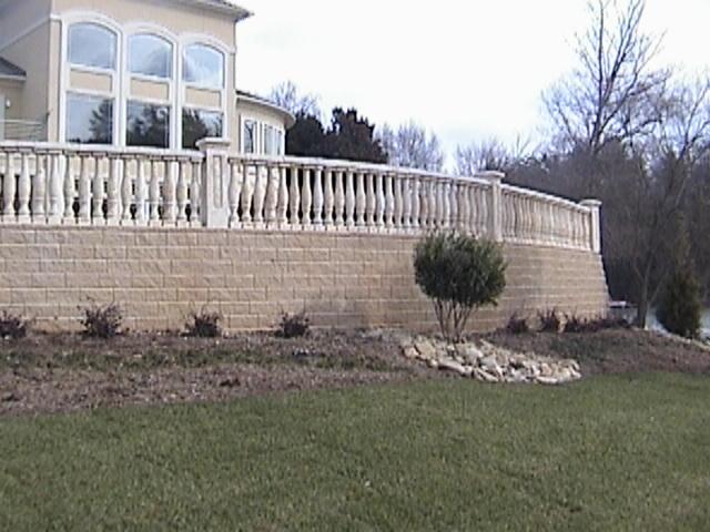 Balustrade System in North Carolina by Stoneman, Inc.