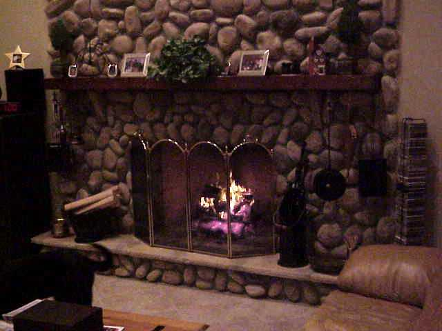 River Rock Wood-Burning Fireplace, The Stoveman, Inc.