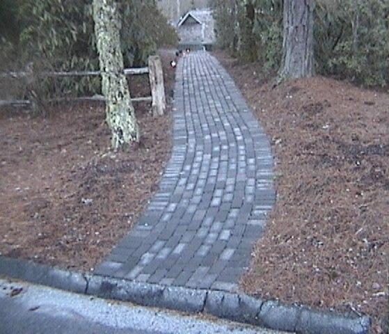 Stone Walkway at Wade Hampton Golf Course  by Stoneman, Inc.